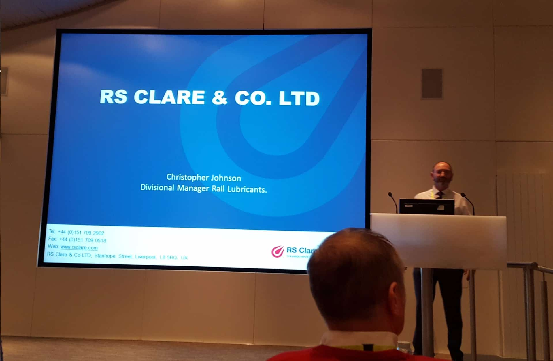 RS Clare Present at Network Rail Management Conference 2016