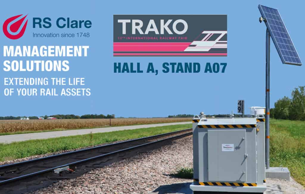 RS Clare to exhibit Friction Management Solution at Trako Rail Fair 2019